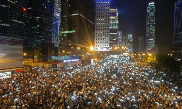 Hong Kong sees second day of mass protests for Occupy Hong Kong